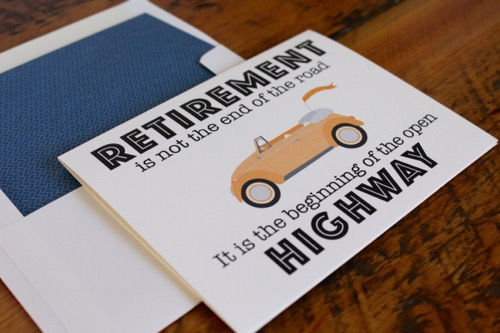 52 Weeks Of Mail- Week 34 Feature Photo | Retirement Card