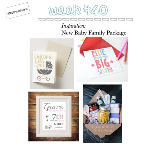 52 Weeks Of Mail-Week 40 Inspiration New Baby Family Package