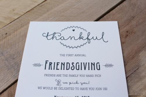 52 Weeks Of Mail- Week 41 Feature Photo   Friendsgiving Invitation