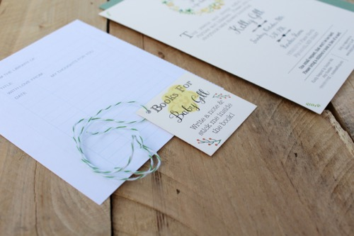 52 Weeks of Mail: Week #43 | Story Book Baby Shower Invitation 1