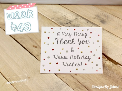 52 Weeks Of Mail- Week 49 Feature Photo | Holiday Client Card