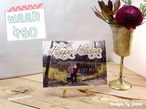 52 Weeks Of Mail- Week 50 Feature Photo | Holiday Photo Card