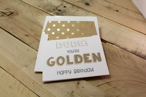 52 Weeks Of Mail- Week 44 Feature Photo | Golden Birthday Card Collection