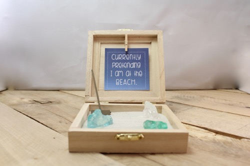52 Weeks Of Mail- Week 47 Feature Photo | Beach Inspired Zen Garden