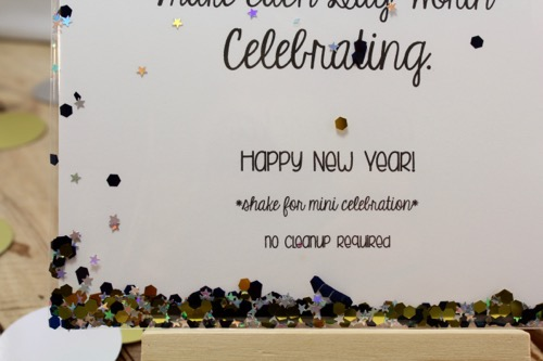 52 Weeks Of Mail- Week 52 Feature Photo | New Year Confetti Postcard
