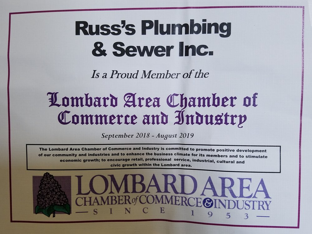 Russ's Plumbing & Sewer Inc. - Complaint Free Award : Better Business Bureau
