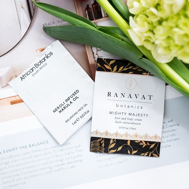 Have I mentioned before how much I love receiving samples? They're almost more fun to receive than the actual product(s) I've purchased because they're a total surprise. And these two have not disappointed: # 🌿 @ranavatbotanics Mighty Majesty hair and body serum has been so good at smoothing any frizziness in my hair during these drier winter months. 🌿 @africanbotanics Neroli Infused Marula Oil is the most luxurious balancing face oil I've tried, leaving my skin unbelievably soft and smooth. I love layering it on top of my daily moisturizer for an extra dose of nourishment at night. # What recent samples have you received and loved? . . . . . #madelinebayapproved #organicskincareproducts #organicmoisturizer #naturalandorganic #naturalskincareproducts #naturalskincare #fallskincare #newskincareroutine #organicskin #organicskincarelover #greenbeautyblogger #organicbeautyblogger #bestofgreenbeauty #tbogb @bestofgreenbeauty #organicskincare #greenbeautyskincare #cleanbeautyskincare #skincareproductsthatwork #favoriteskincare #newskincare #ecobeauty #wellnessblogger #blemishes #blemishtreatment  #skincaresample #sampleskincare #balancingfaceoil #balancefacialoil #combinationskin