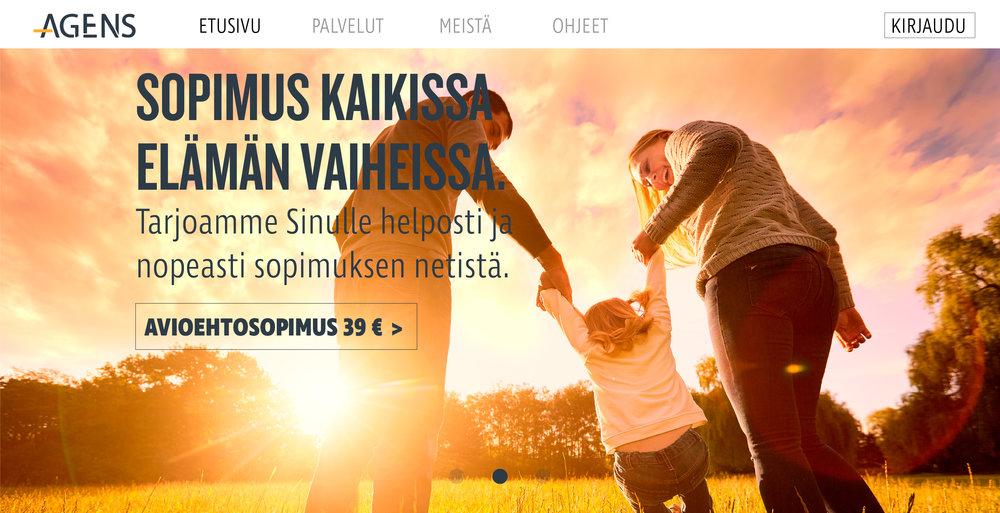Ensimmäinen visuaalinen luonnosehdotus kampanjasivusta.