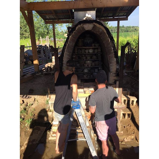 Kiln unloading day is always a great day :) . . . #ceramics #woodfiredpottery #woodfiredceramics #pottery #woodkiln #queenanne