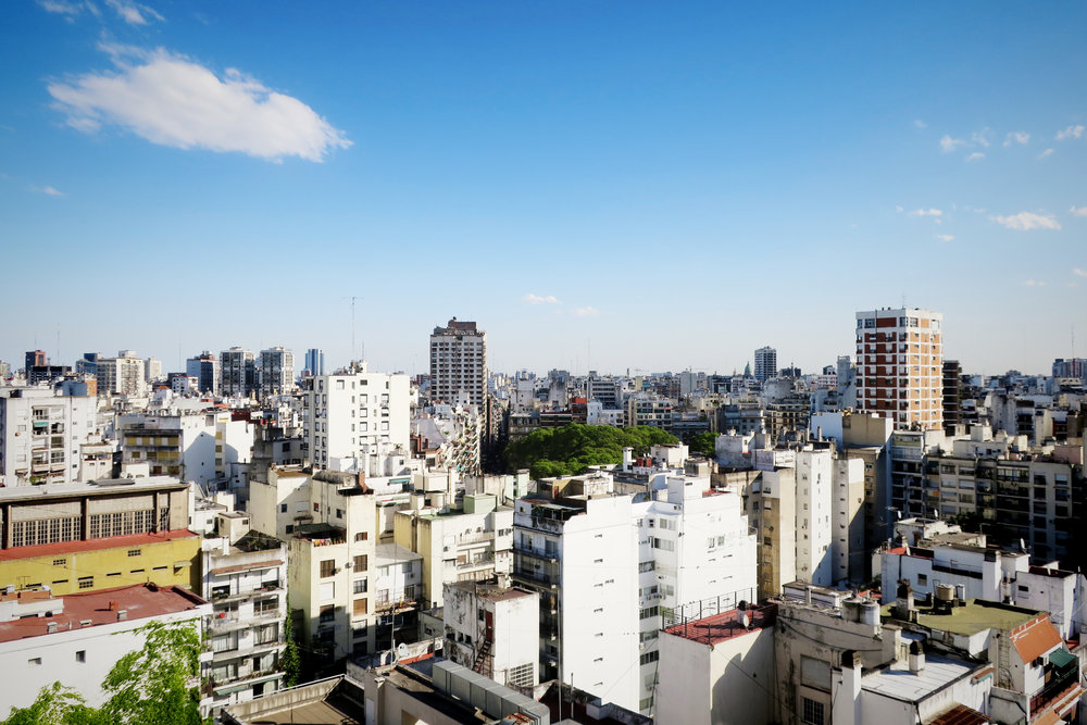 View from my friend Ann's apartment in Recoleta