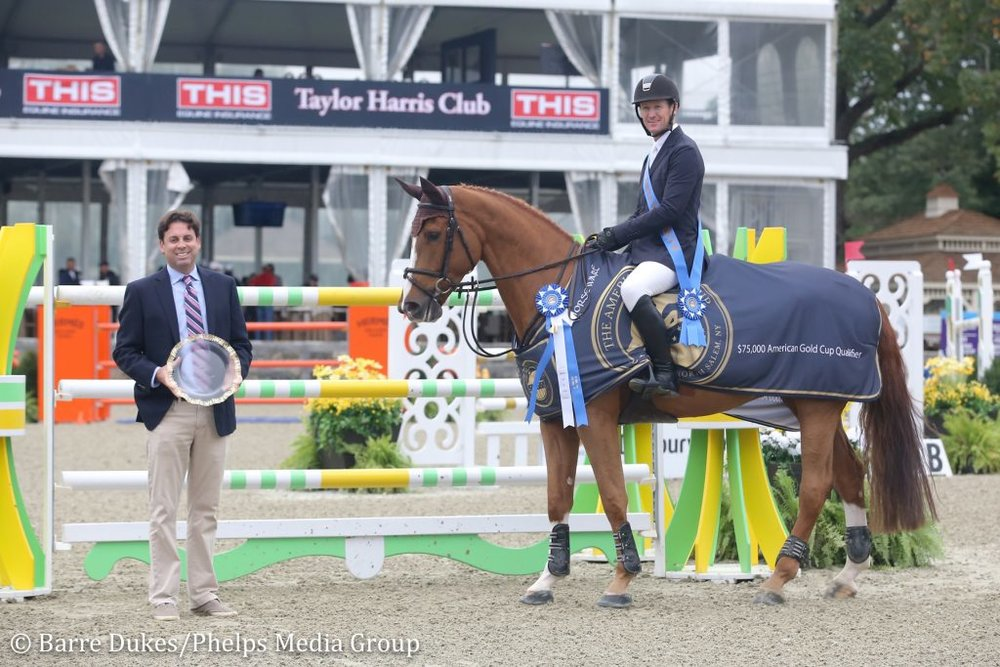 Matt Morrissey with McLain Ward and Contagious  Photo credit Barre Dukes/Phelps Media Group