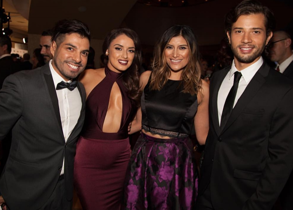 Uriel , Vanessa, Bricia and Rafael at the LATimes LDH awards at Dolby Theatre in Hollywood  -