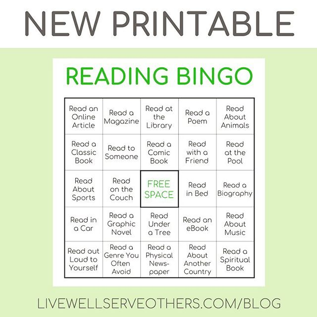 New printable on the blog! Mix up your personal reading routine and/or motivate your kids to read more by playing Reading Bingo. Link in bio. . . #read #reading #readinggame #literacy #kids #parenting #books #childrensbooks #summerfun #summeractivities #sahm #printables #bingo #mixitup #motivation #readtogether #blogger #readingisfun #readingislife