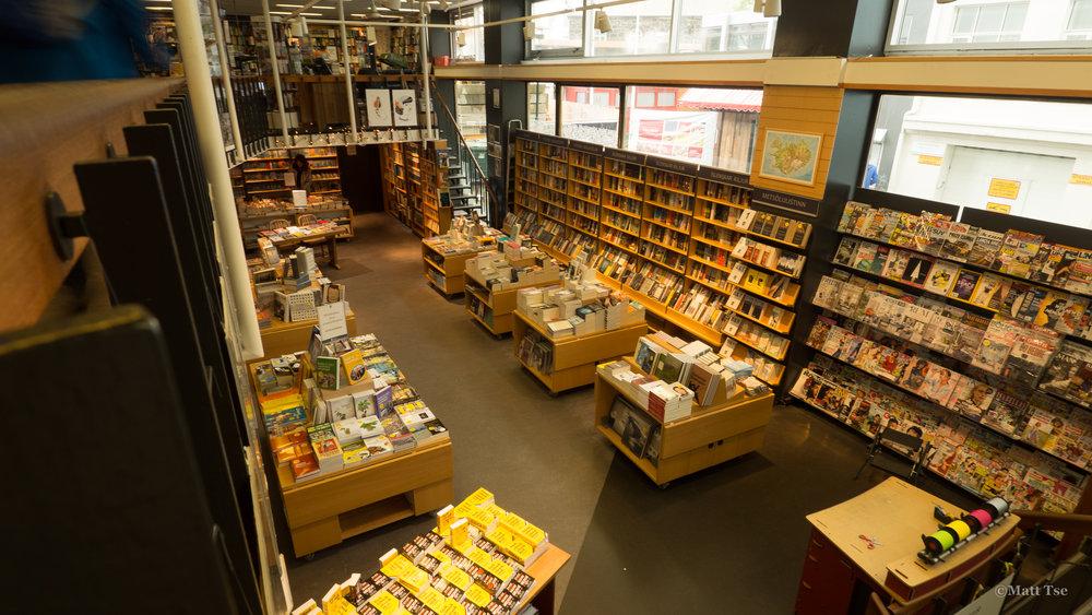 bookstore in Reykjavik