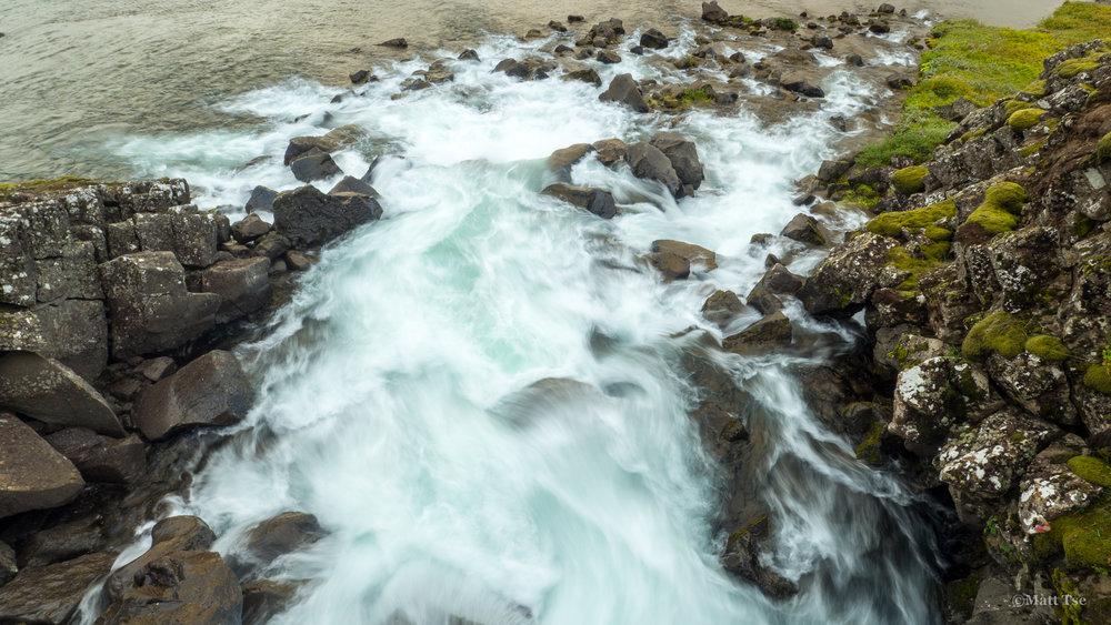 A small tributary into Silfra, Þingvellir