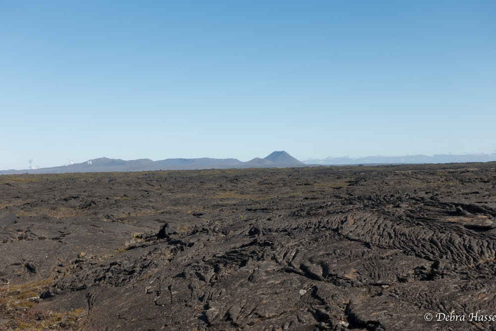 more traditional lava fields