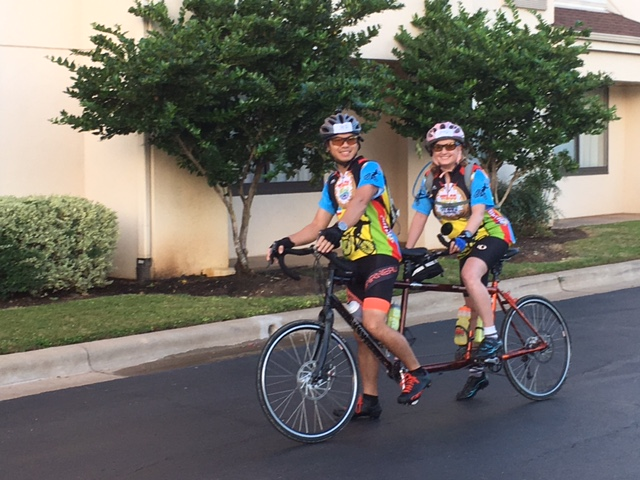 back in the saddle (tandem style!)