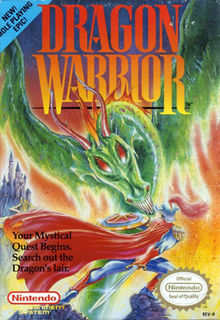 Box art of the original North American NES release, titled  Dragon Warrior