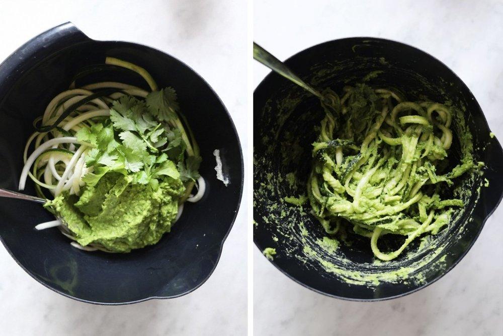 lättlagad middag zucchininudlar