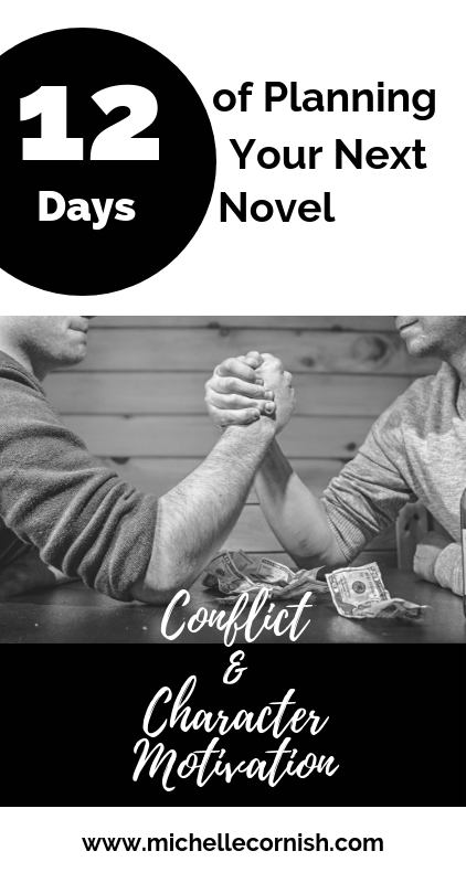 You've got a great start to your novel outline but you need some more scenes. Using character motivation to create conflict is a great way to do this.
