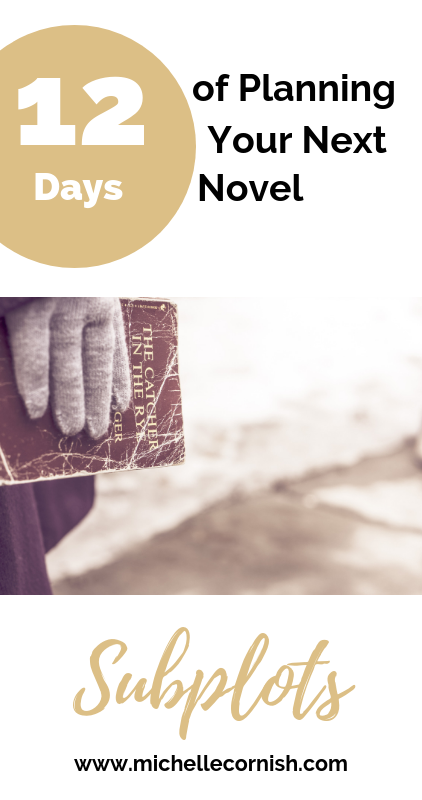 In my series, 12 Days of Planning Your Novel, I help you create an amazing outline. Learn about incorporating subplots in your story.
