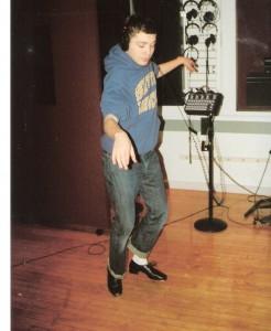 4 a Jack Saleeby tap-dancing in recording studio for  Irving Berlin  020