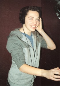 3. Jack Saleeby recording the cast album for IRVING BERLINs