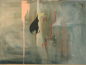 Simplistic yet thought provoking piece, largest painting in the collection