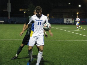 Mike Rudin/Hofstra  Chronicle Casado takes possession in a match against Binghamton this season.