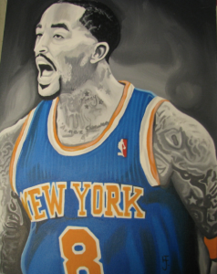 King H's J.R. Smith painting
