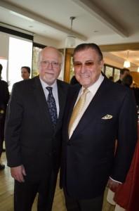 Stuart Rabinowitz and Lawrence Herbert celebrated the renaming of the School of Communication on Wednesday.