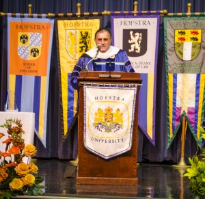 Lawrence Herbert spoke during the School of Communication Naming Ceremony in the Student Center Theater on Wednesday afternoon.