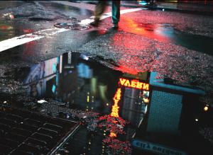 Photo by Alex Cassetti - Tavern puddle reflection