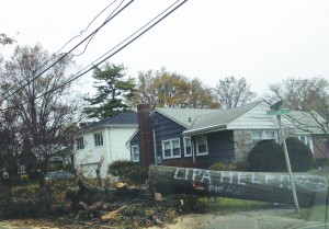 Hurricane Sandy was one of the costliest hurricanes in history. Above: damage in Franklin Square in Oct. of last year.
