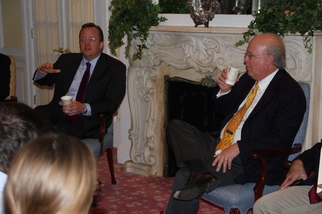 Robert Gibbs and Karl Rove