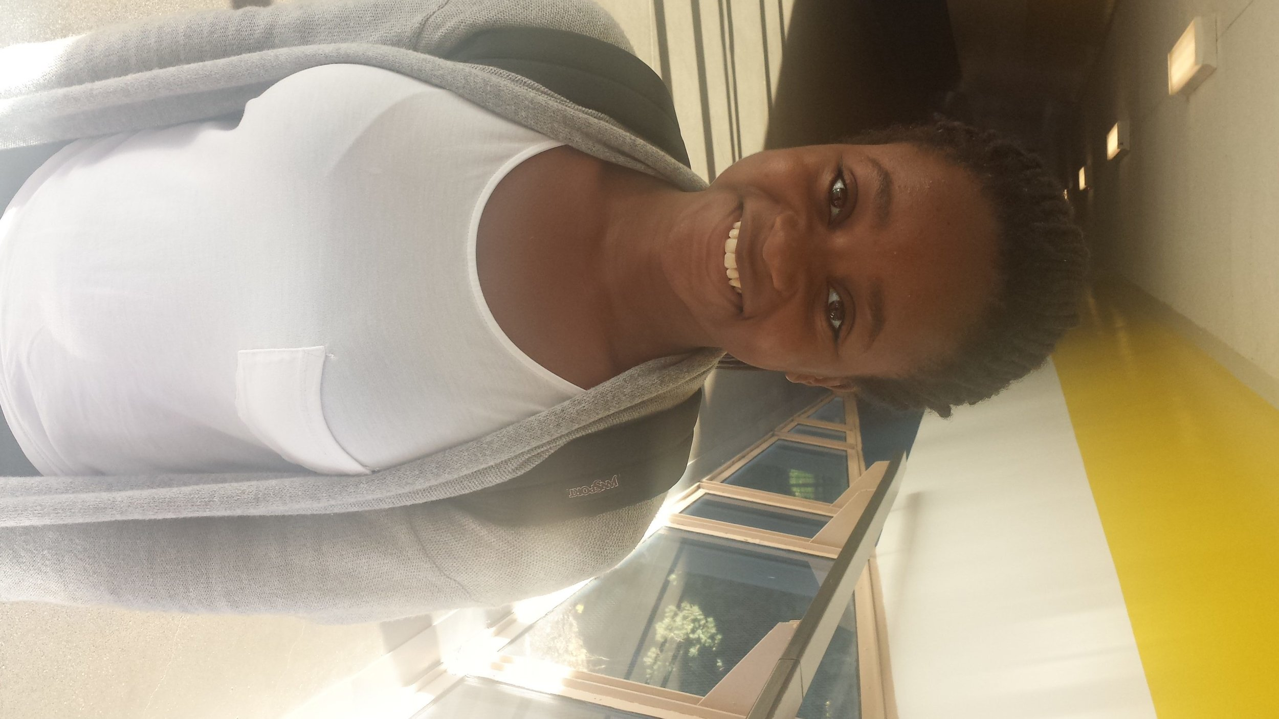 """Amanda Fakuade, freshman """"I'm really upset about it actually. I don't know, it's just, I feel a lot of emotion because I really thought I was going to witness a piece of history; first came Obama and then came the first female president."""""""
