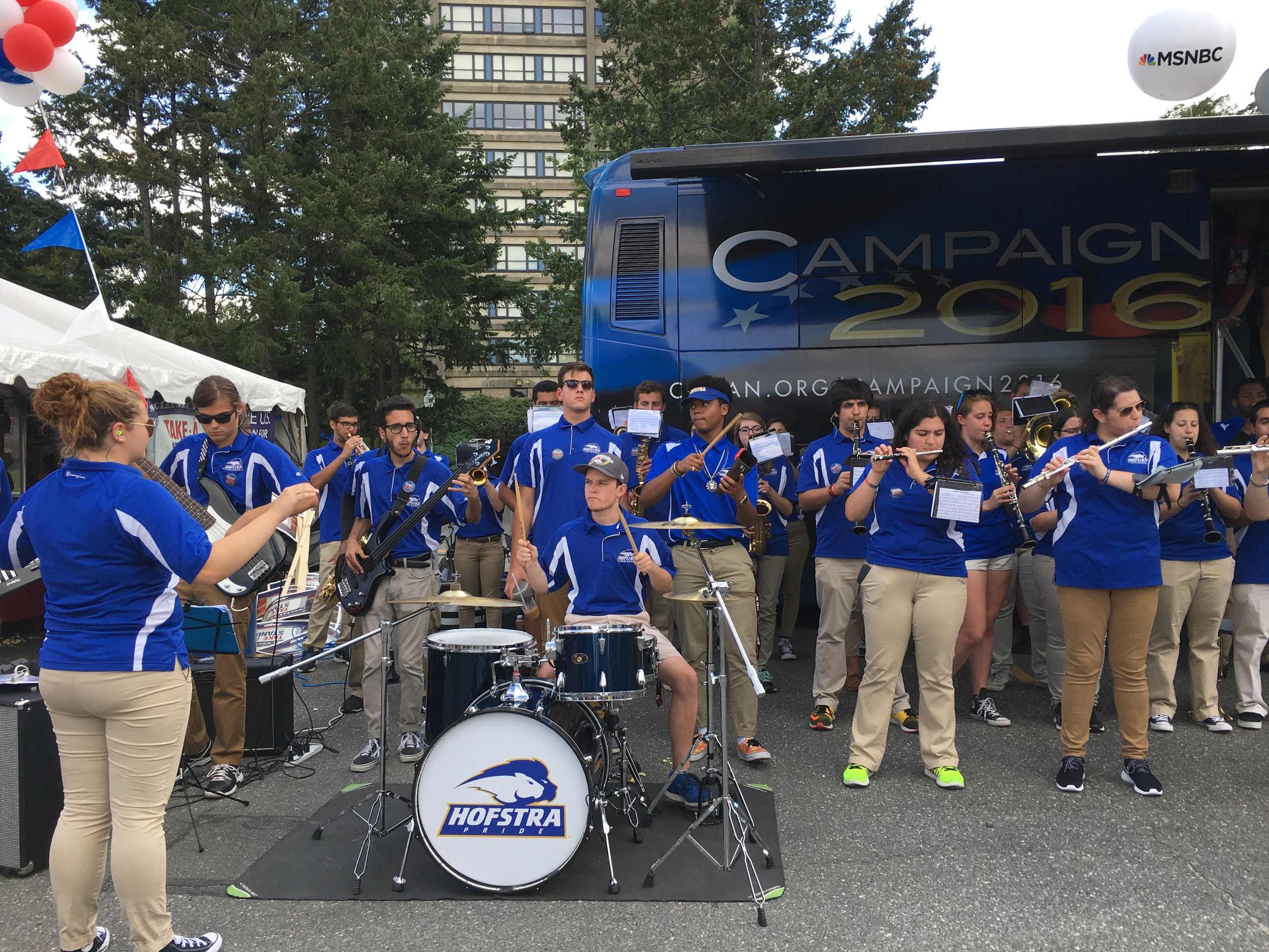 The pep band plays at soccer games, basketball games and other university events throughout the year. (Photo courtesy of Samantha Filippone)