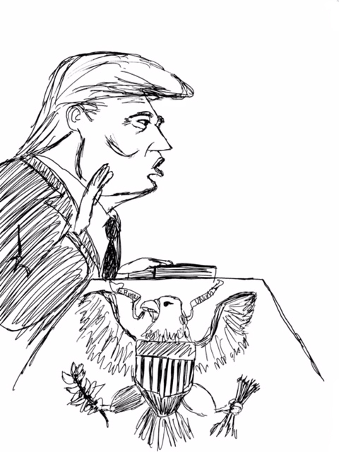 Political Cartoon by the Assistant Op-Ed Editor