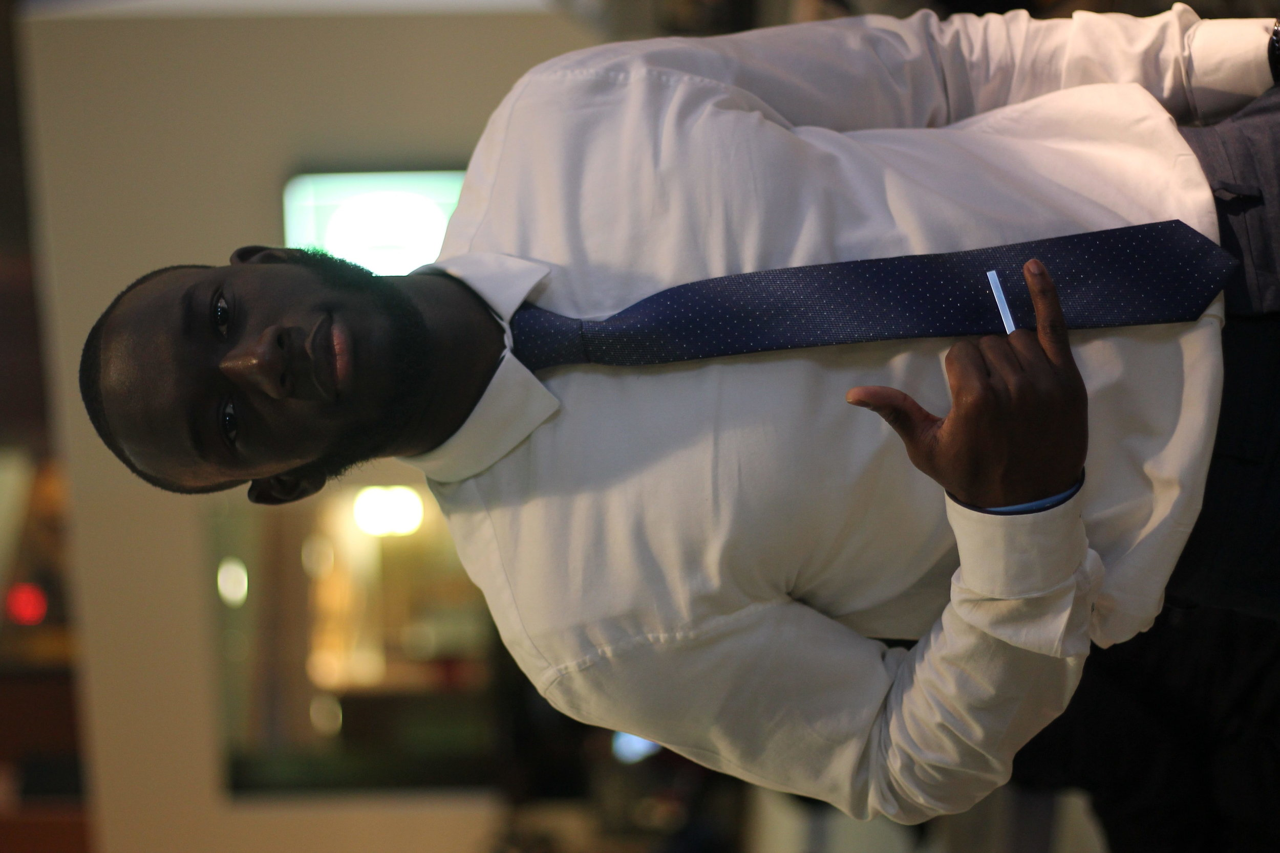 Brandon Palmer I am part of a fraternity. It is a Collegiate Black Fraternity that was established in 1906 and our founder's day is coming up this Saturday, so it is going to be 110 years since we have been established. We are having our party this Saturday at Hofstra USA, so it's going to be great. It will definitely be a party. I also like to play sports. I play basketball in my free time [and] work out. I used to play football in my high school. If Hofstra still had a football team I would have definitely played. My favorite football team is the Ravens. I was really attached to my parents so Hofstra seemed like a great option where I could be independent, but also closer to home. Something about the campus just drew my attention and I just got that feeling, like Hofstra, that's the one.