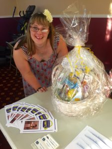 Brittany Schiavone's non profit Brittany's Baskets of Hope makes baskets for families who have children with Down syndrome.