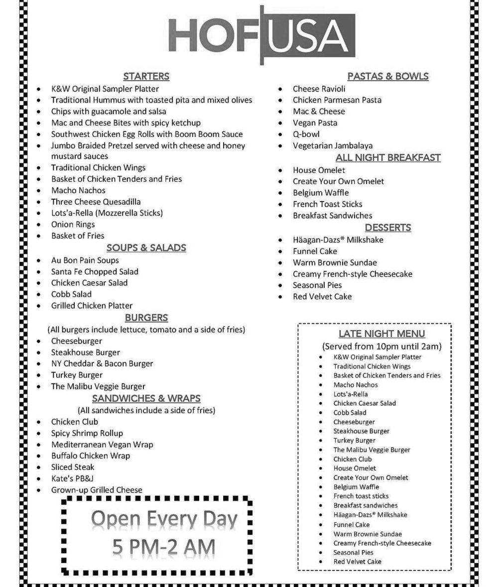 The new menu, designed by SGA contains some old favorites as well as a few new and healthy additions.  Photo courtesy of University Relations.