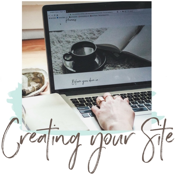 Creating your website