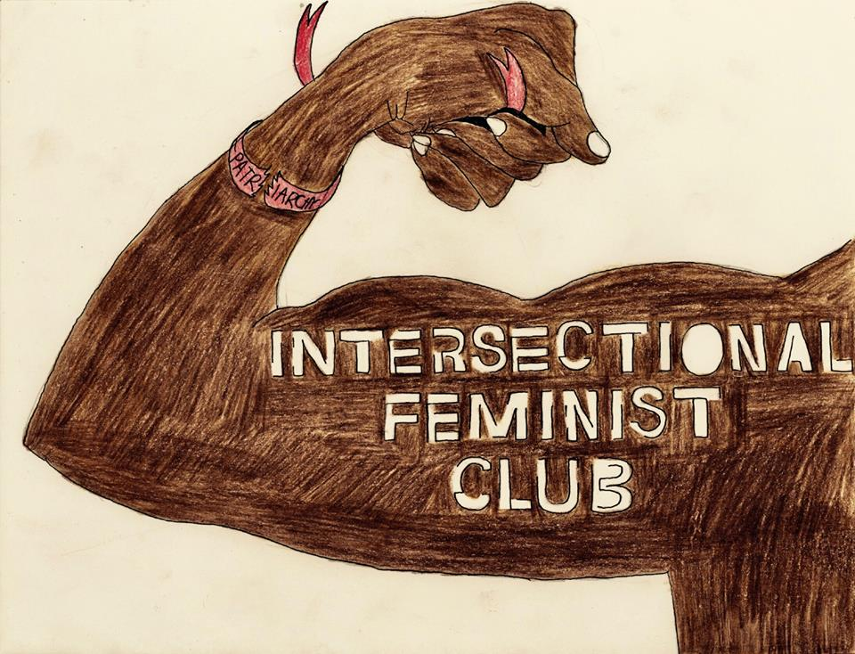 The Intersectional Feminist Club logo by Gabriella Walrath.