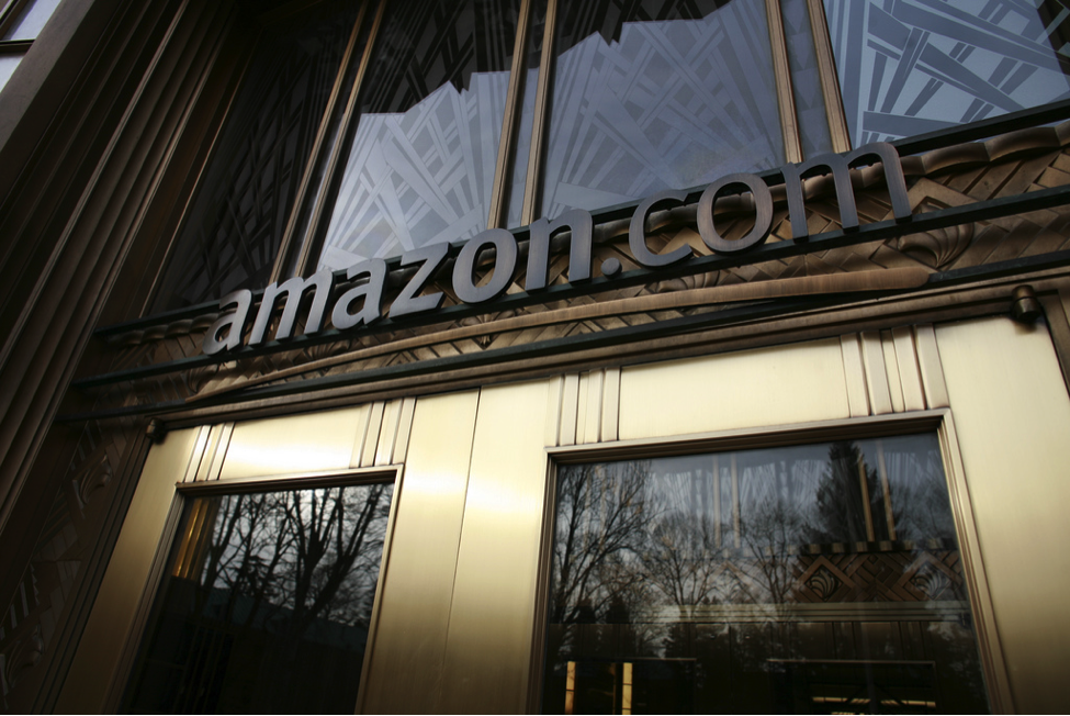 An entrance at Amazon's 185-acre Seattle headquarters. Photo courtesy of Flickr.