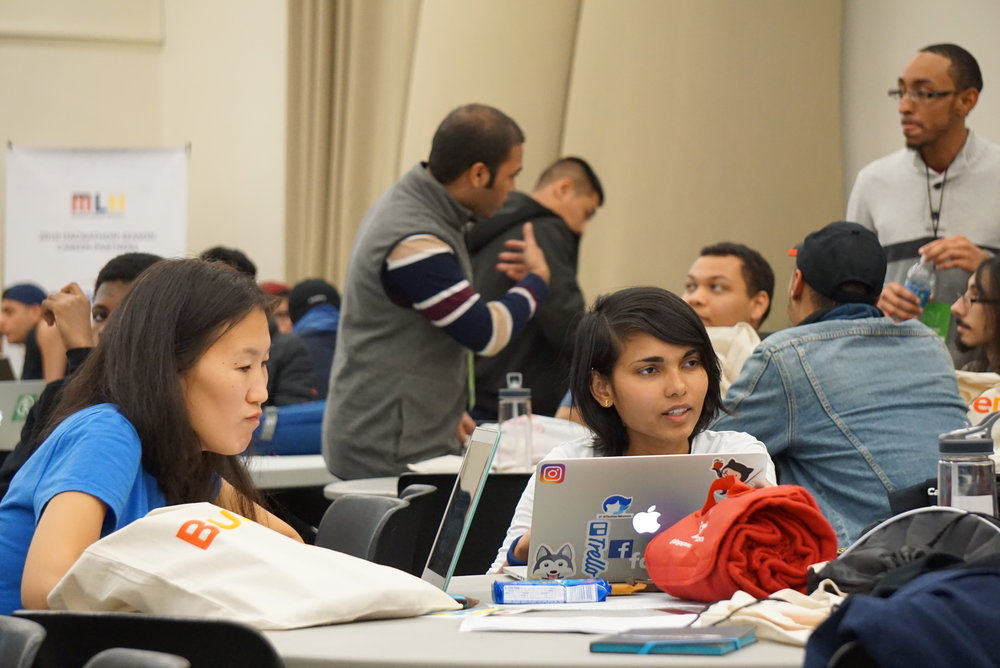 Lehman students attend annual Hackathon event. Photos courtesy of Miguel Rodriguez.