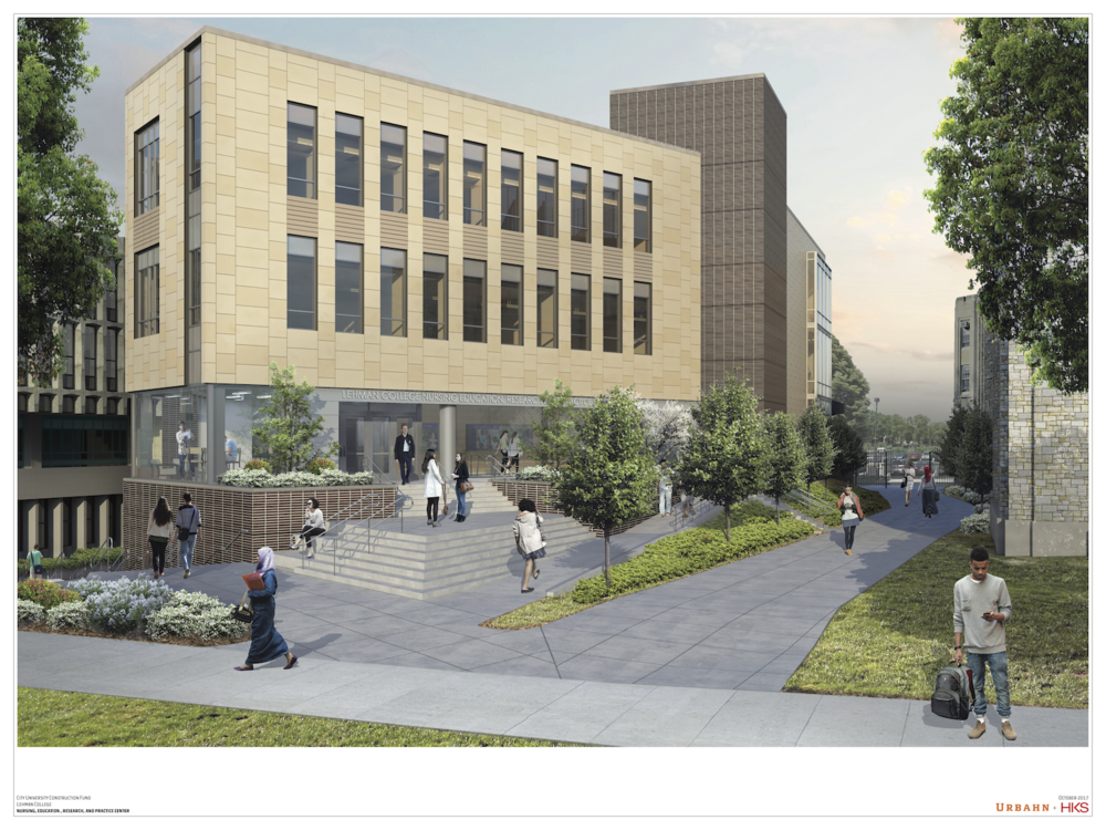 Artist's rendering of the proposed construction of new Nursing Building.