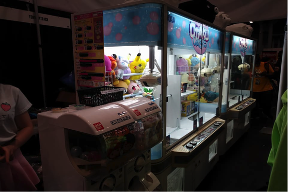 The Claw Machines from Otaku Oasis were super popular among con-goers. Especially since many of them were hunting for the elusive Rainbow Alpaca (not pictured here).
