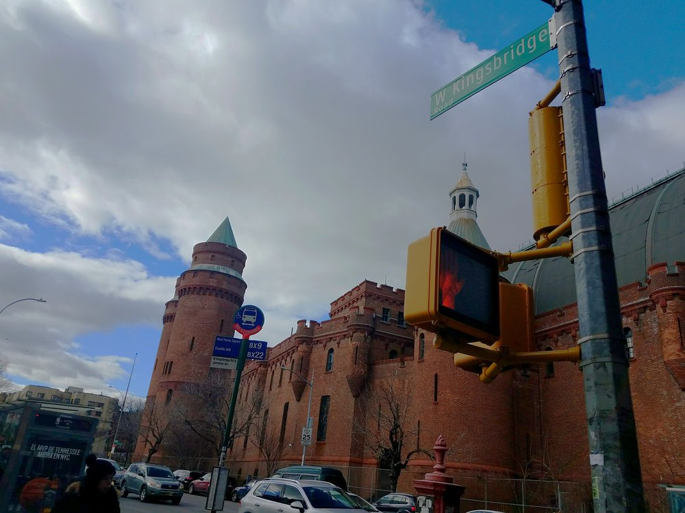 The Kingsbridge Armory has remained vacant since 1996. Photo by Perla Tolentino. [Page 3]