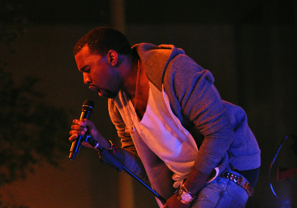 Kanye West performing at the Museum of Modern Art. Photo courtesy of Wikimedia Commons.