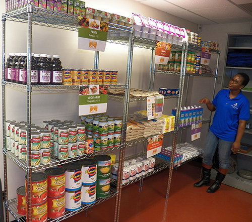 The Lehman College Food Bank opened in 2017. Photo courtesy of Lehman College.